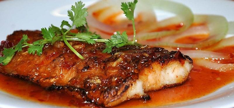 cá basa nướng chanh và muối ớt