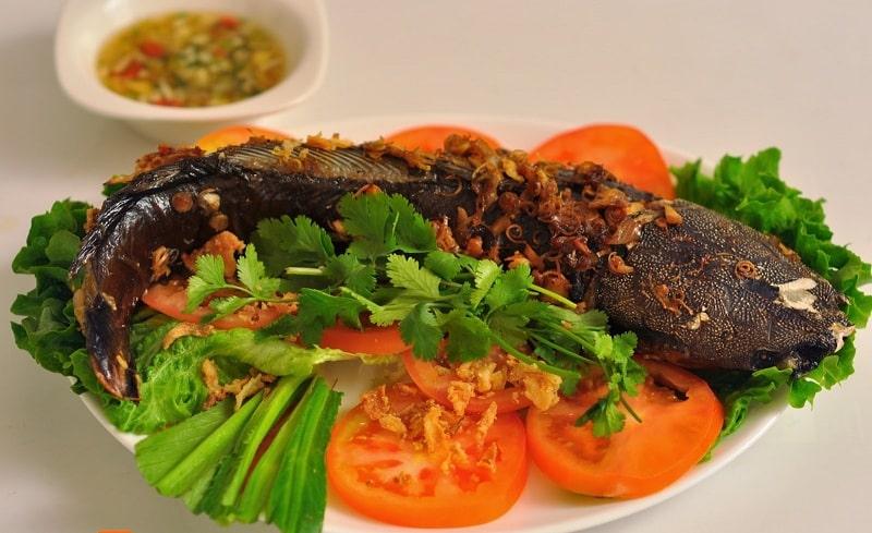 cá trê nướng muối ớt