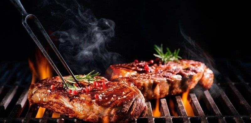 thịt bò nướng muối ớt