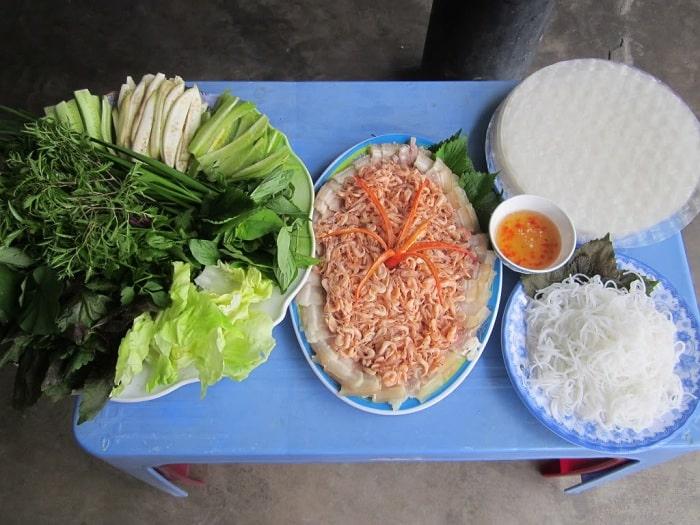 Tép Đồng Um Cuốn Bánh Tráng